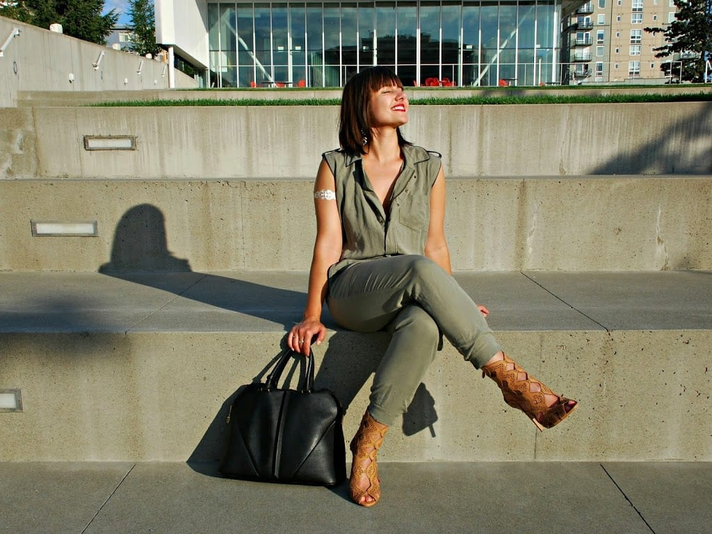 military green jumpsuit
