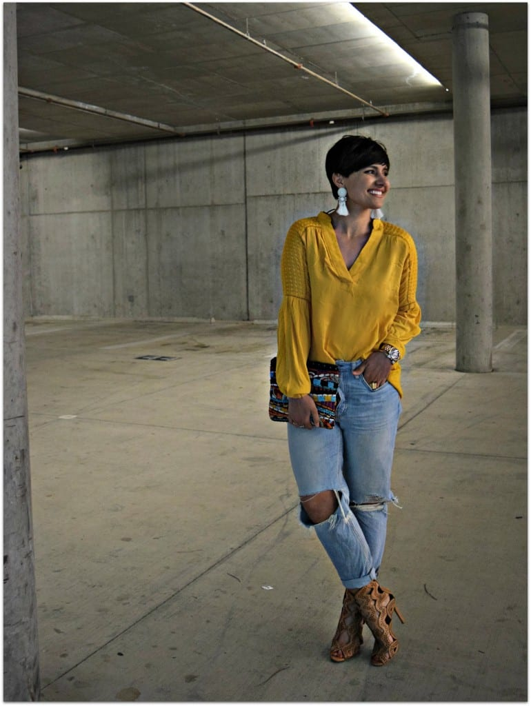 H&M peasant blouse SS15