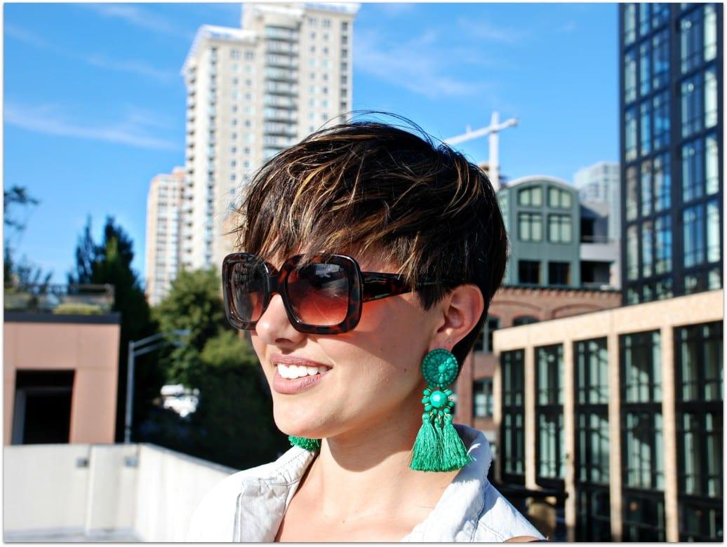 H&M fringe earrings