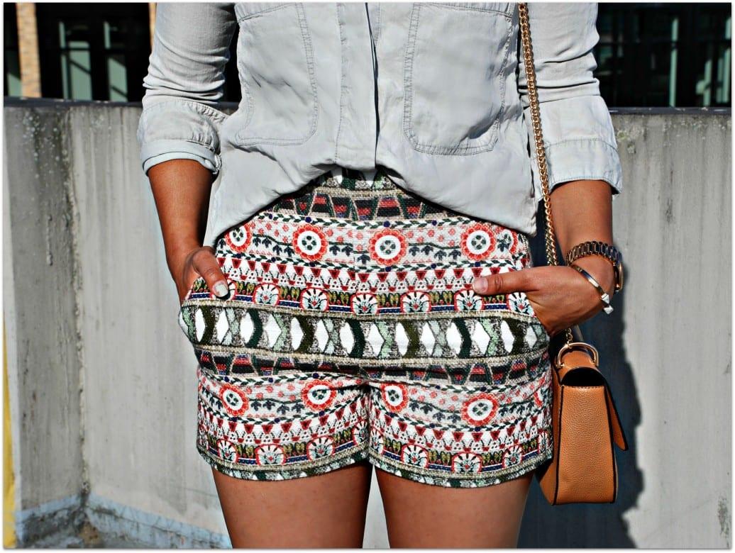 zara knit shorts for summer