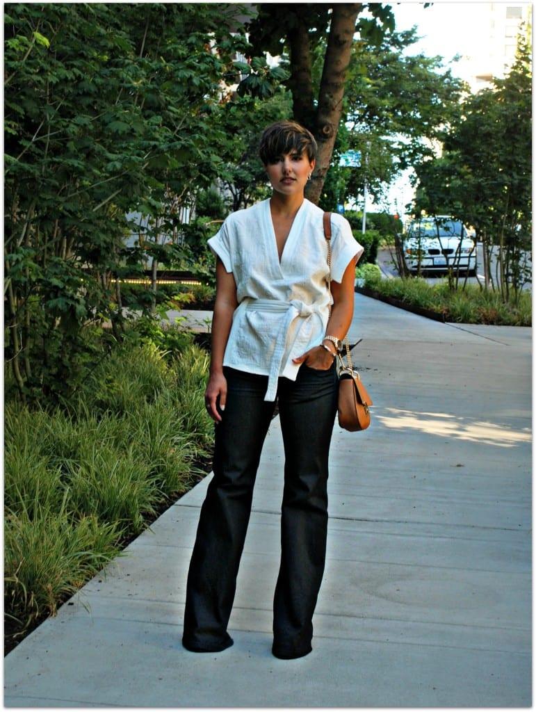 Seattle Fashion Blogger white zara blouse