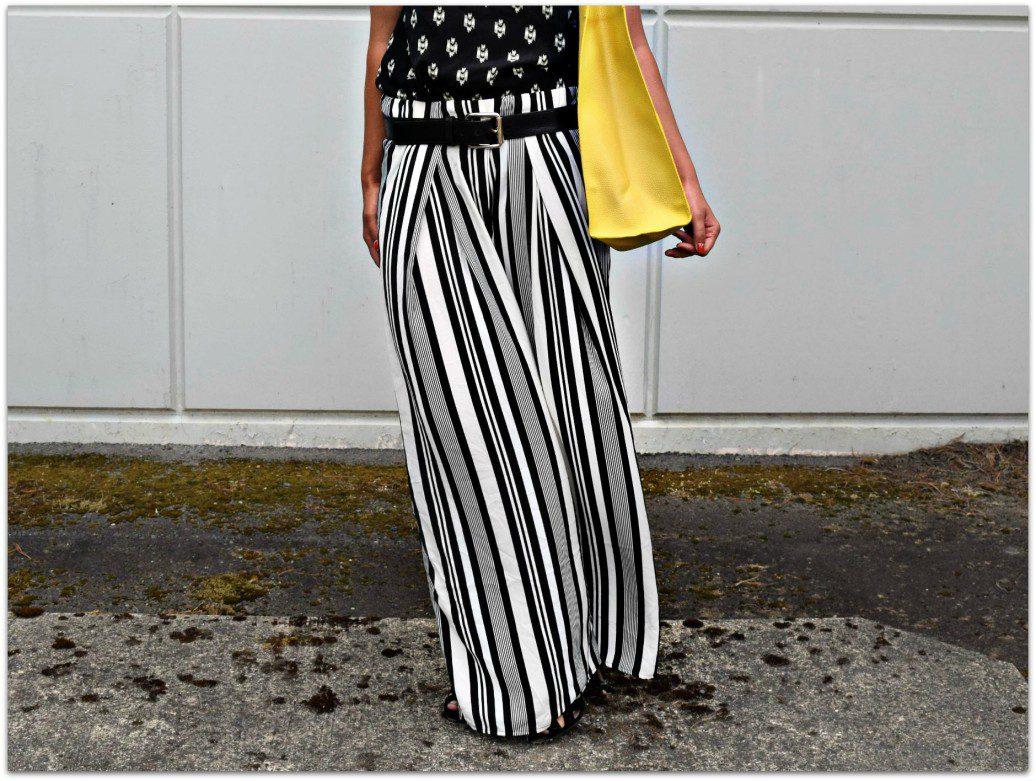 H&M Wide Leg Striped Pant