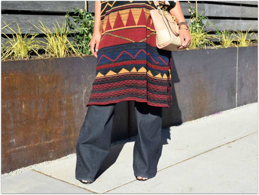 Zara Tribal Print Poncho