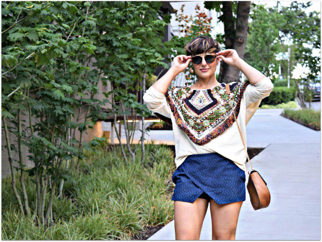 Zara Embroidered Fringe Sweatshirt