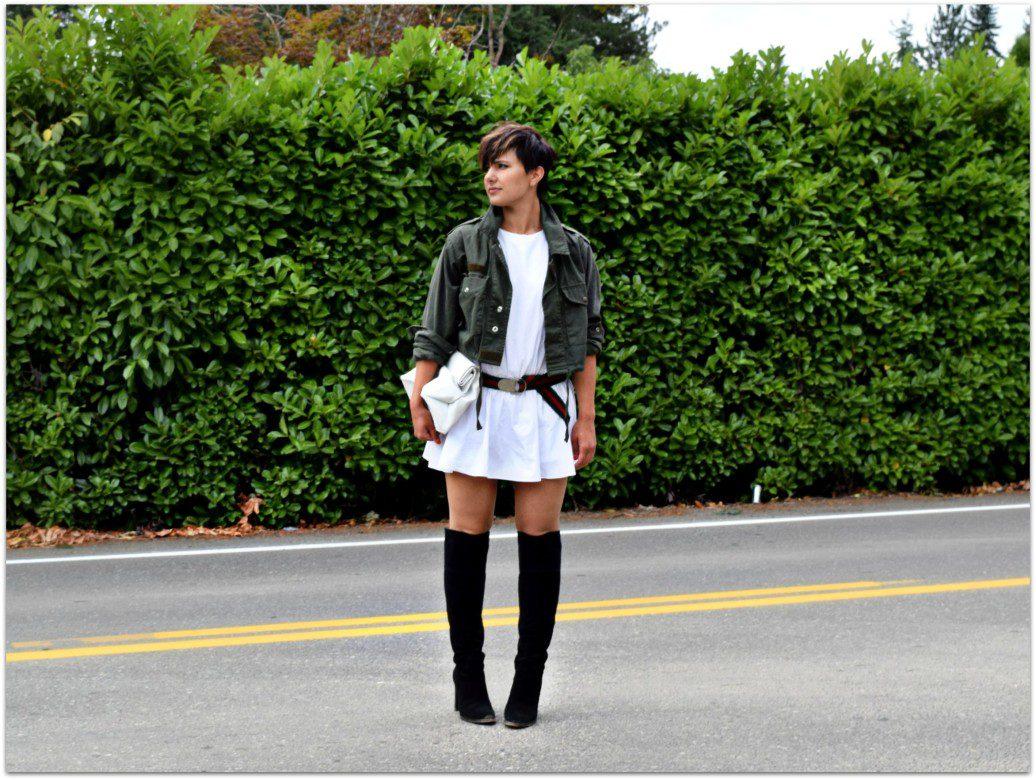 Military Green Topshop Cropped Jacket Seattle Fashion Blogger BloggerNotBillionaire