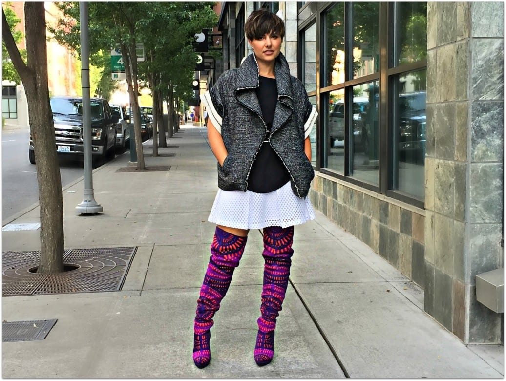 over the knee laser cut boots Jeffrey Campbell