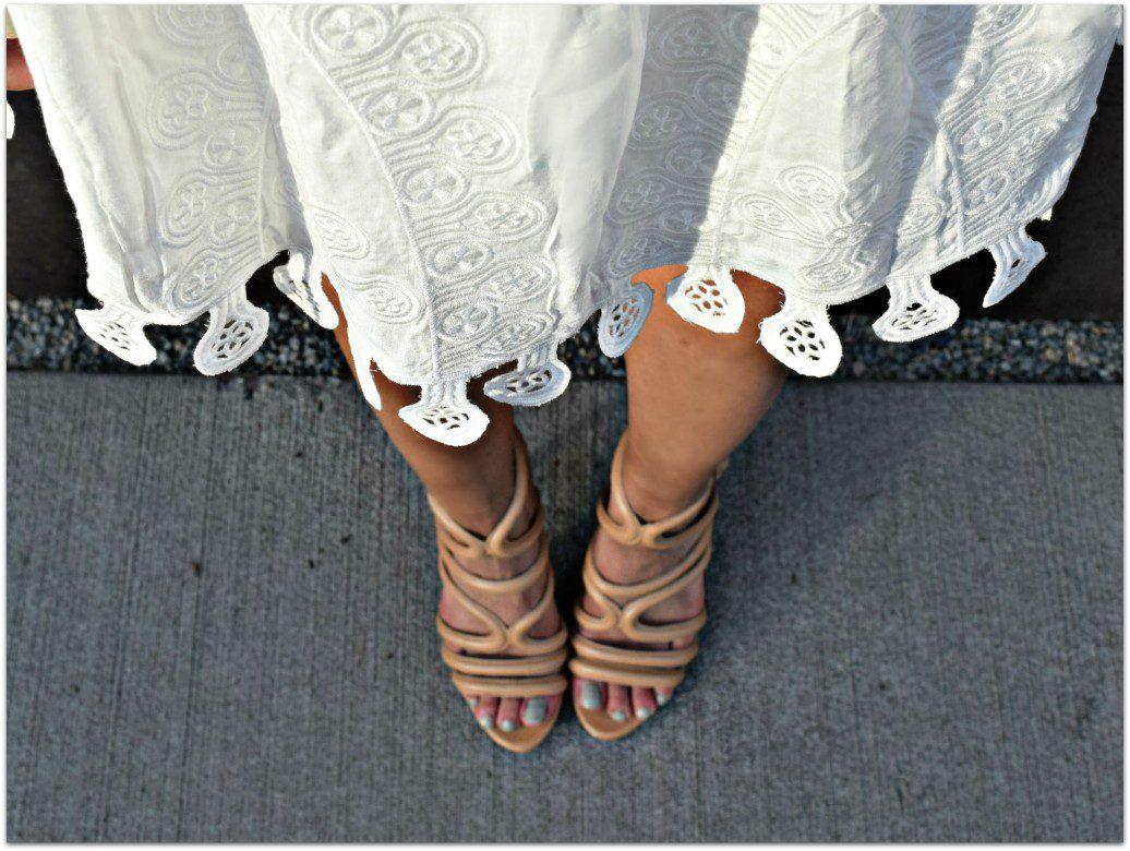 Zara nude heels