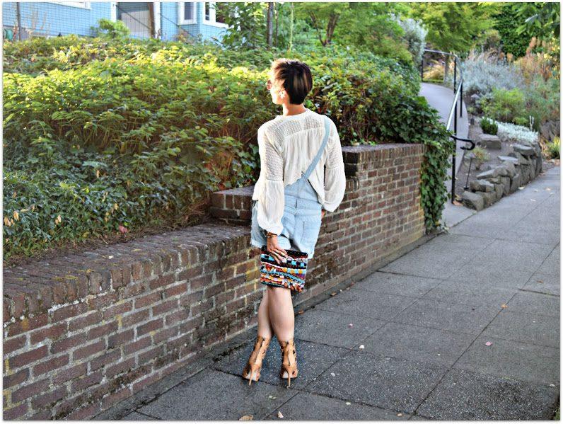 H&M Overall Shorts Seattle Blogger BloggerNotBillionaire