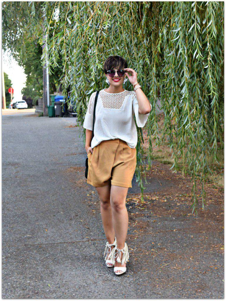 Topshop Workwear Wrap Shorts