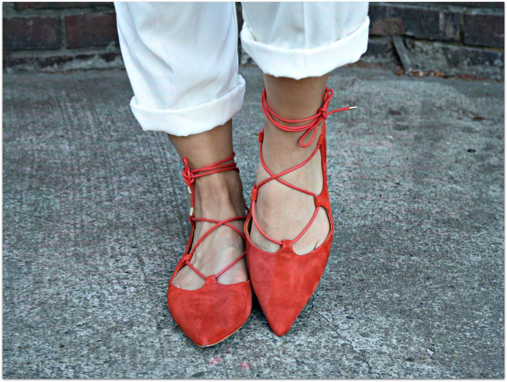 Topshop kingdom Ghillie pointed shoes