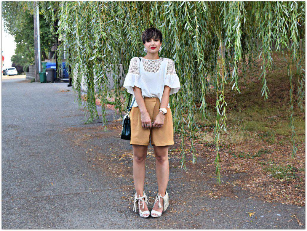 Topshop Workwear Wrap Shorts Seattle Blogger