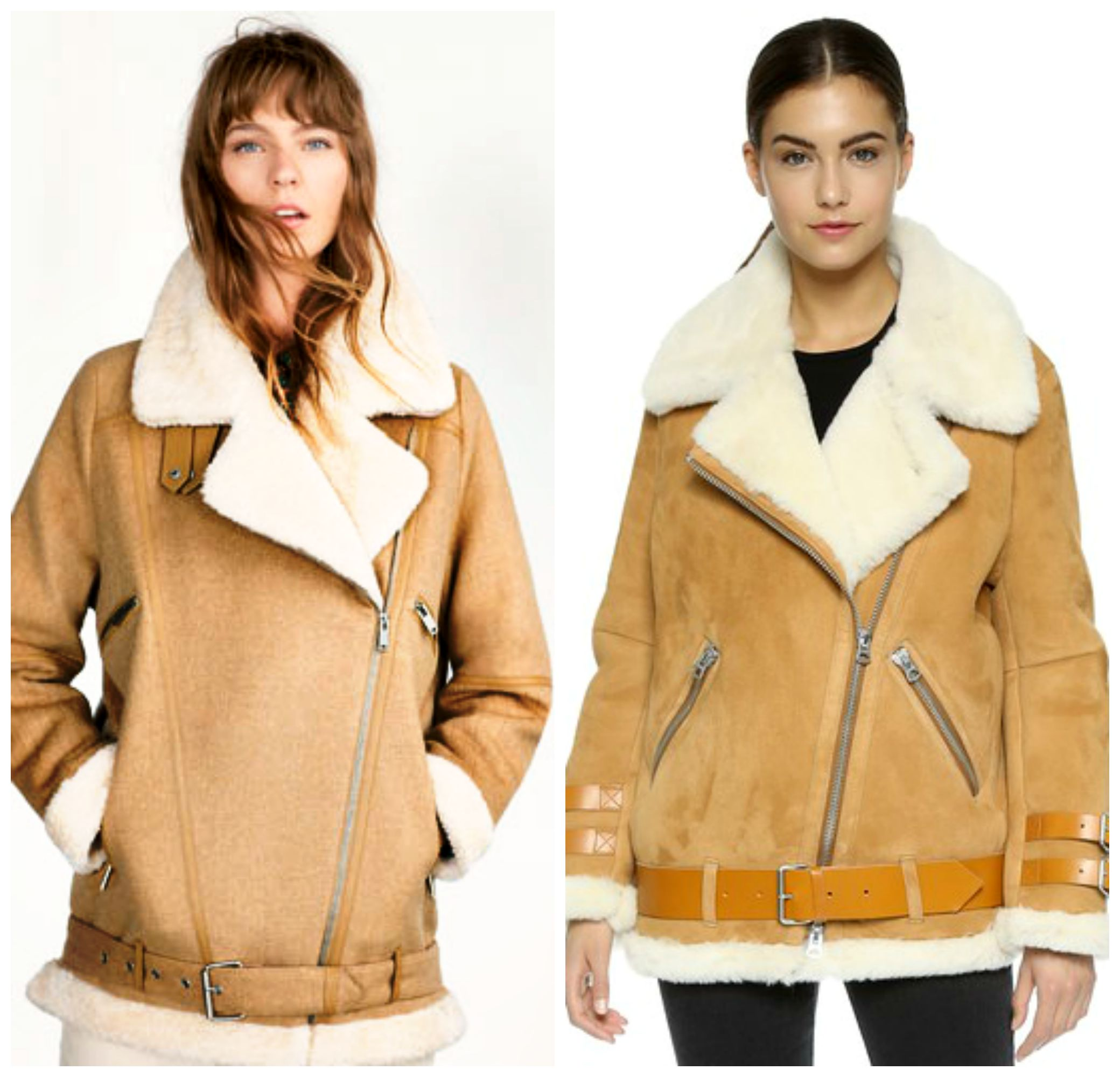 Acne Studios Shearling Moto Coat Knockoff | Blogger Not Billionaire