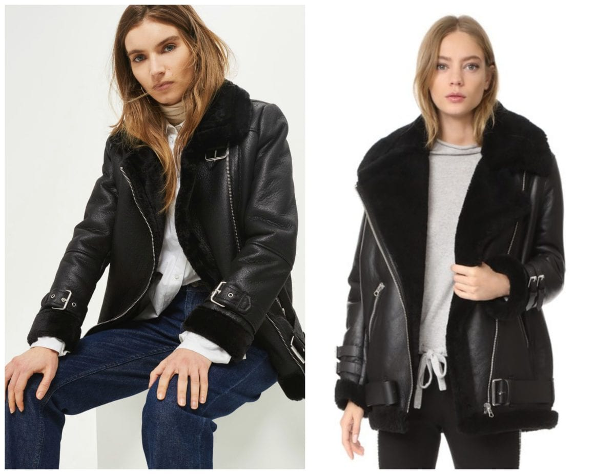 The Perfect Dupe: Acne Studios Shearling Moto Coat