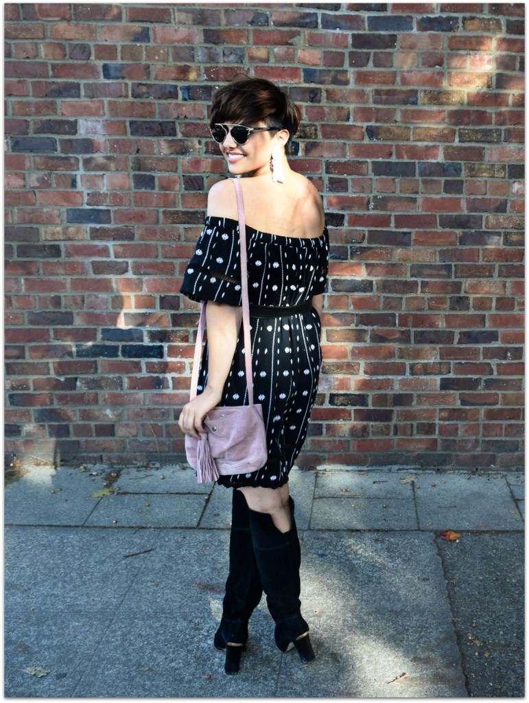 Topshop Off the Shoulder Dress- Seattle Blogger