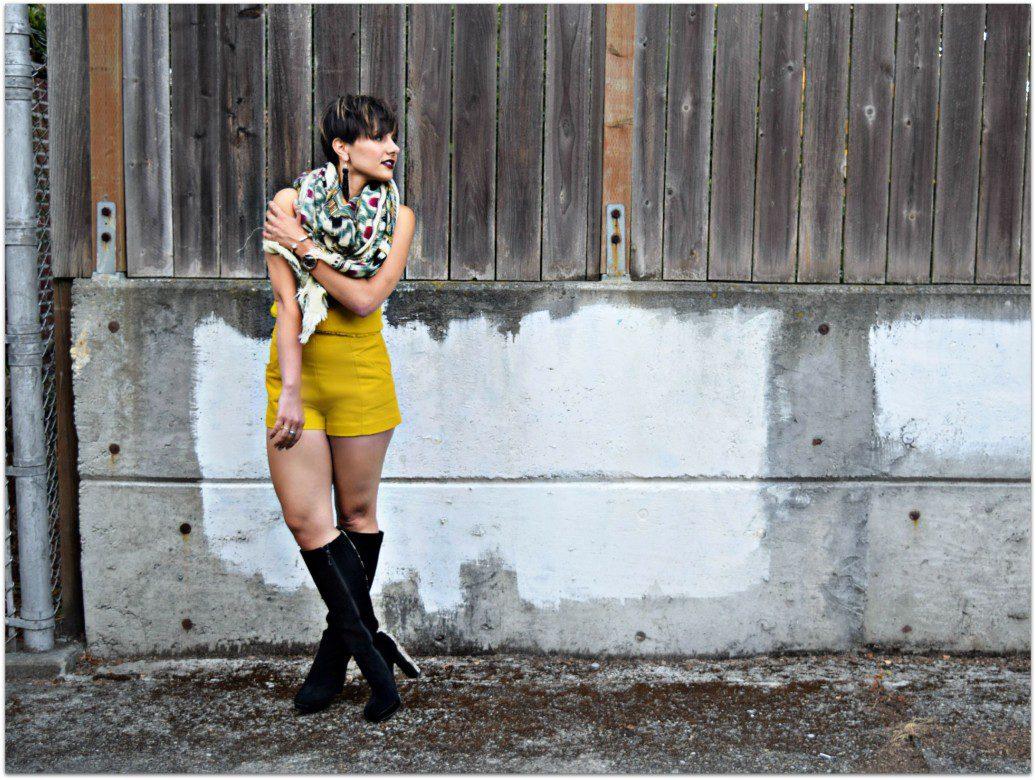 Zara Yellow Set Seattle Blogger