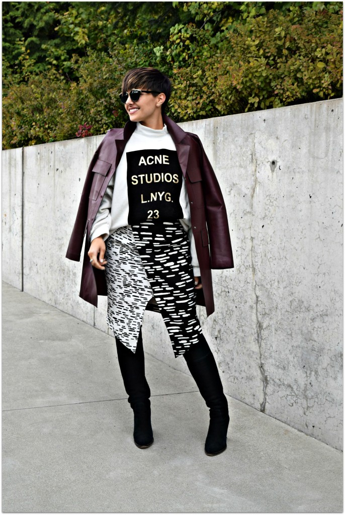 Zara Long Leather Coat-BloggerNotBillionaire