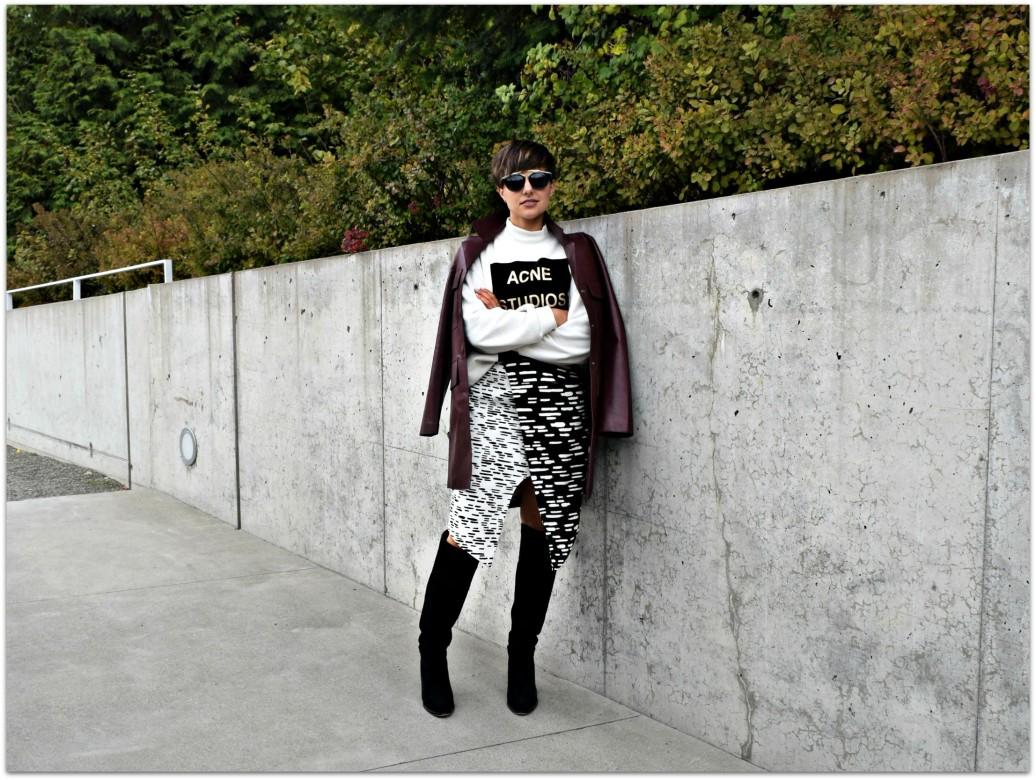 C/MEO Black & White Skirt