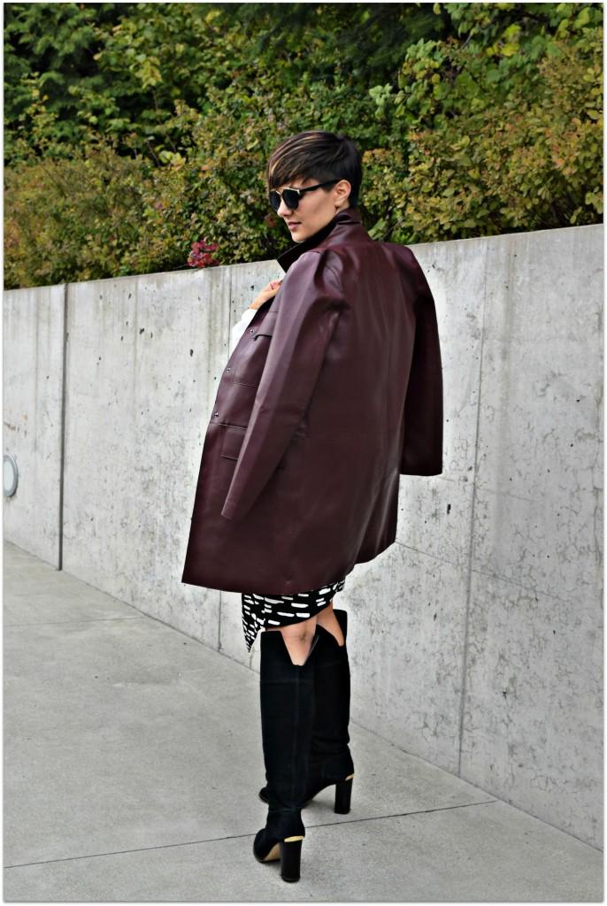 Zara Leather Overcoat