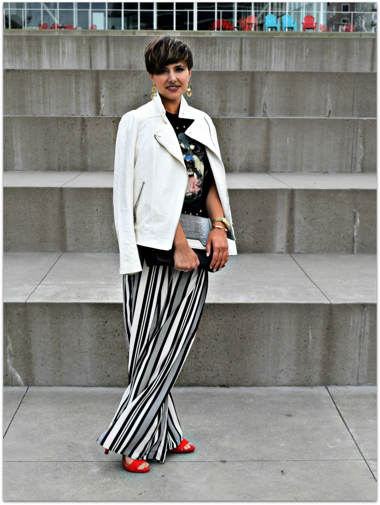 Wide Striped Pants Seattle Blogger