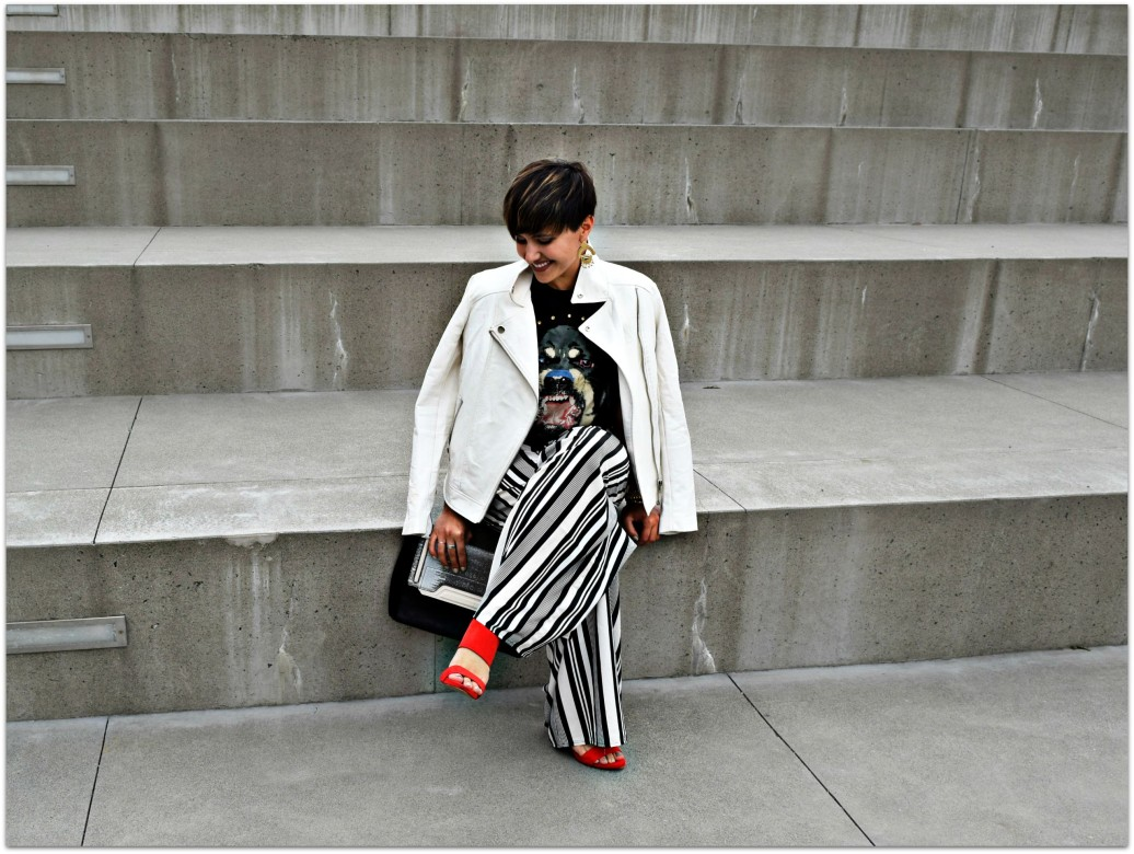 Wide Striped Pants Street Style