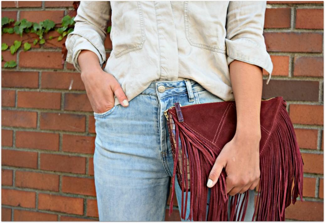 Zara Red Fringe Bag