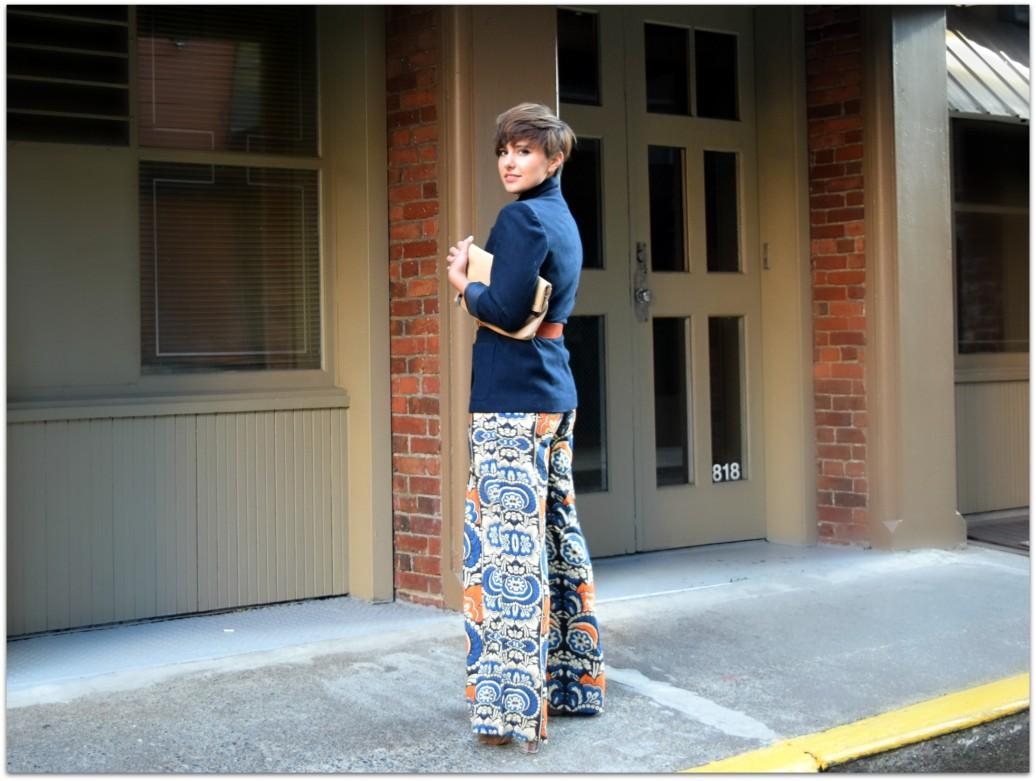 H&M Printed Pants- BloggerNotBillionaire