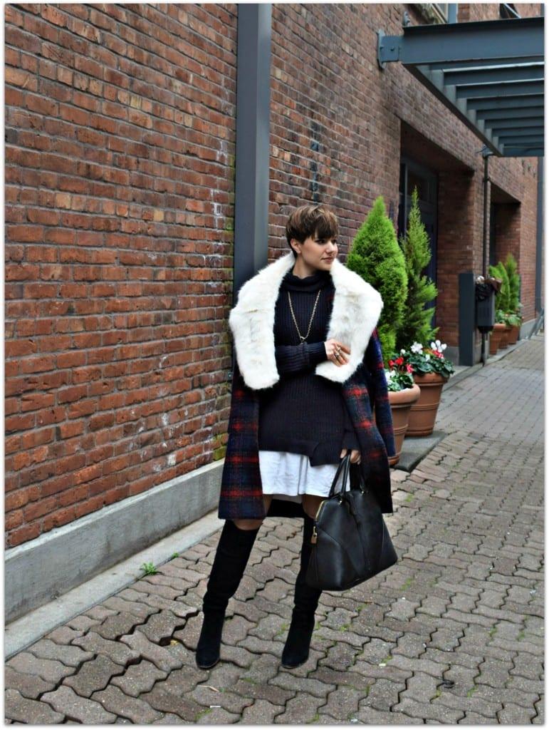 Blogger Not Billionaire Faux Fur Stole