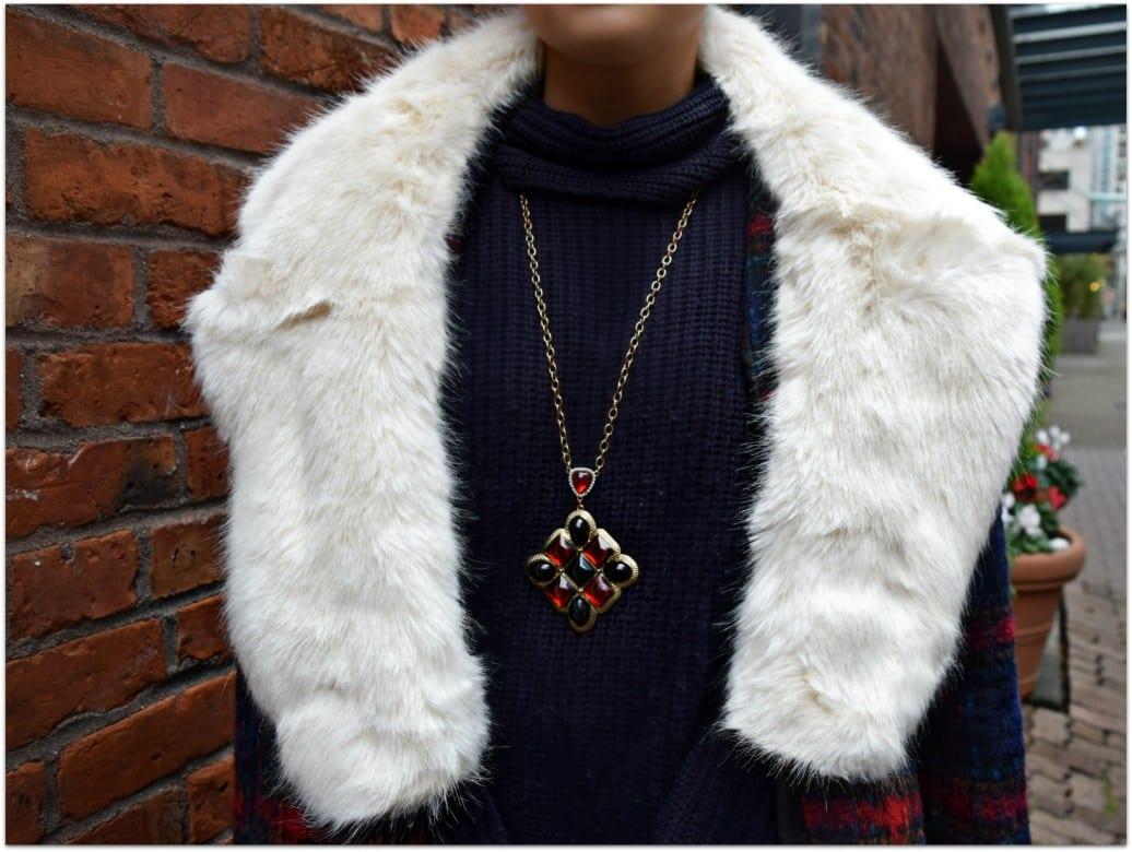 Blogger Not Billionaire Faux Fur Stole DSC_0034