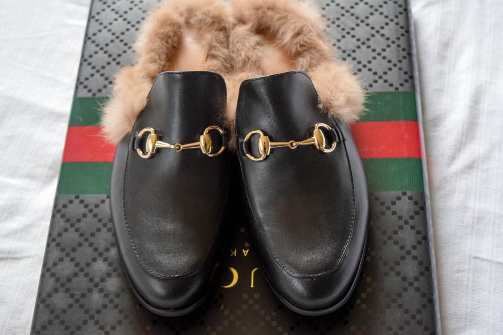 gucci fur loafers. Black Bedroom Furniture Sets. Home Design Ideas