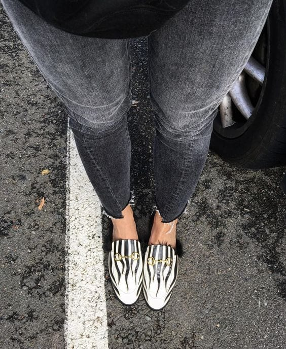Zebra Gucci Princetown Knockoff Loafers with Fur- @BloggerNotBillionaire