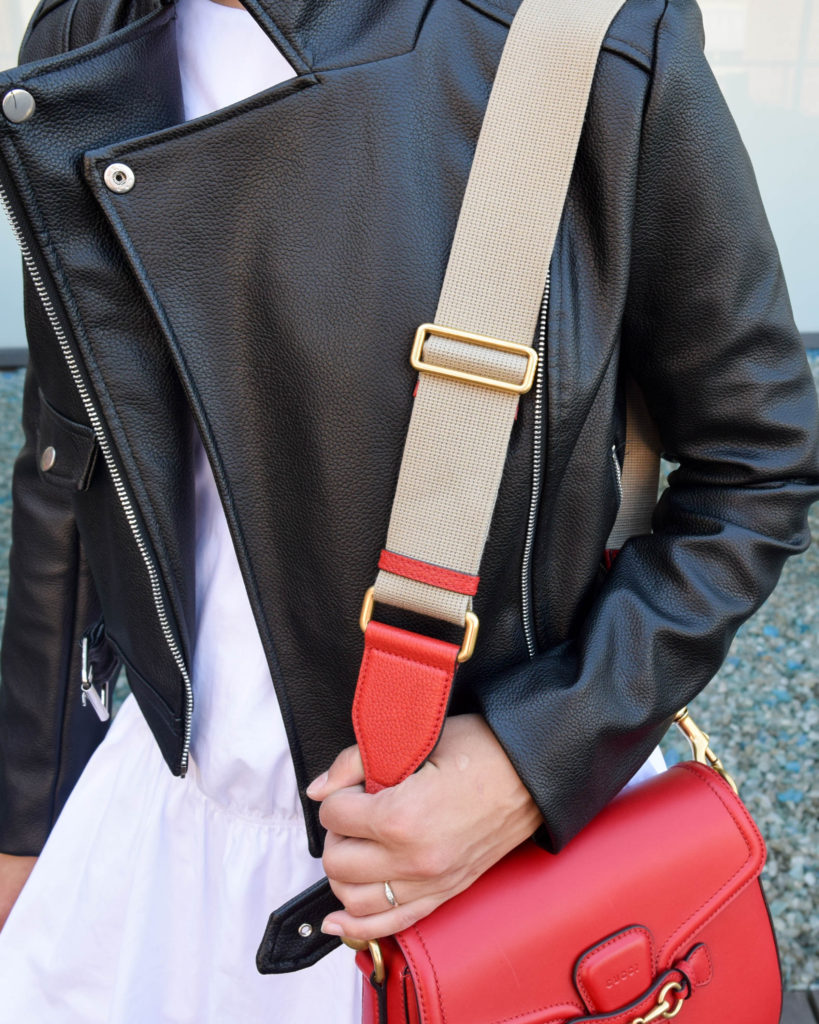 Gucci Lady Web, missguided leather jacket