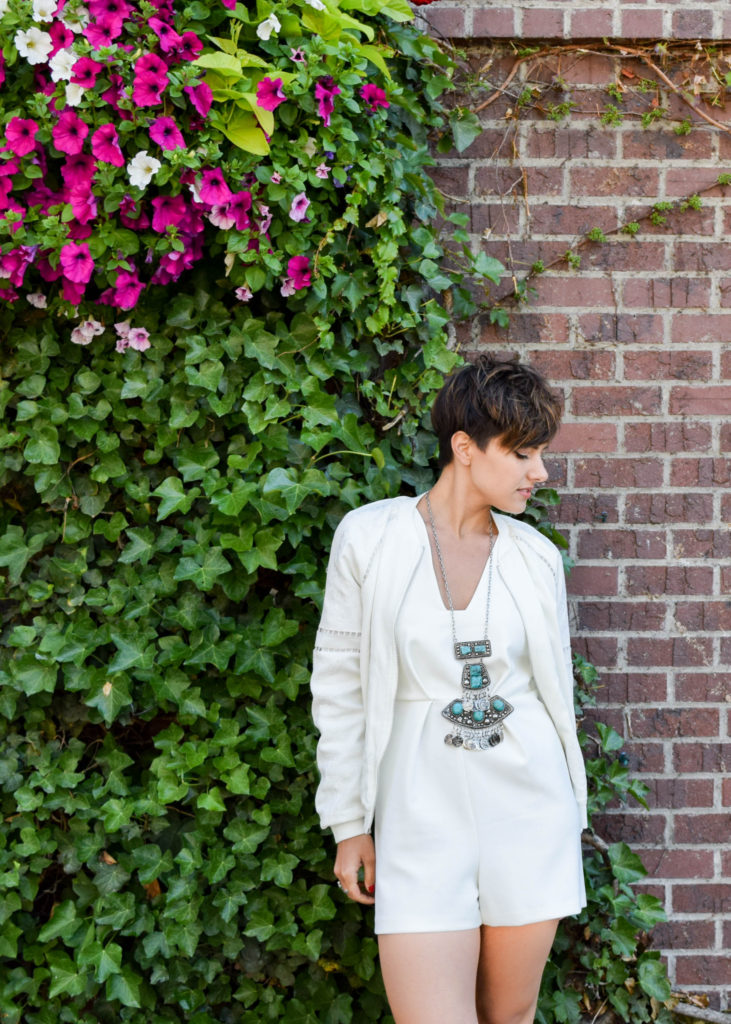 How to Wear a White Romper for a Formal Occasion