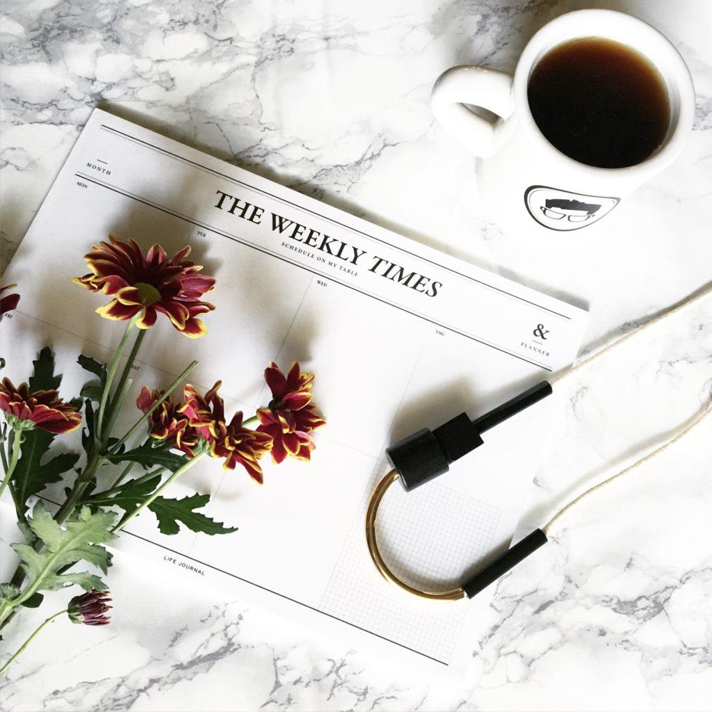 Moorea Seal Weekly Calendar Flatlay Blogger Not Billionaire