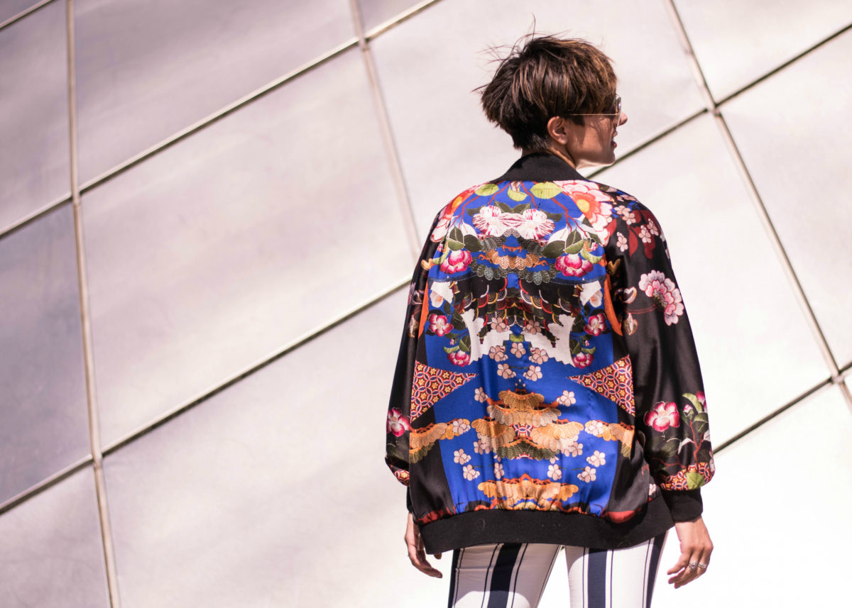 Zara printed silk bomber- Blogger Not Billionaire