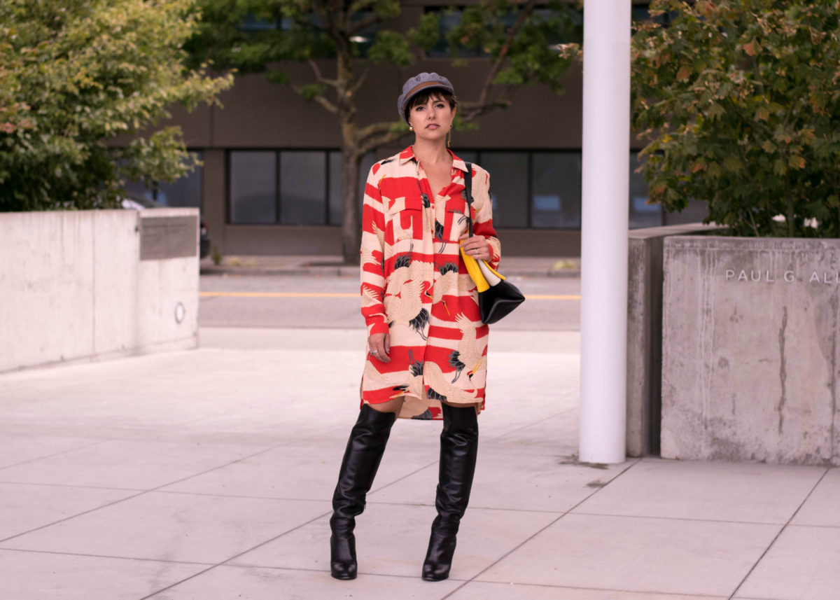 Topshop Hering Print Dress -Blogger Not Billionaire