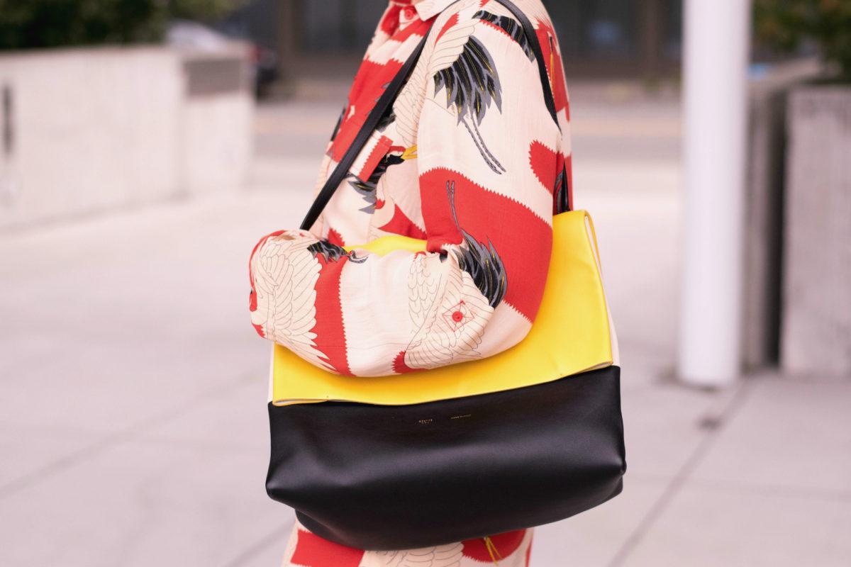 Yellow Celine Bag- Milan Fashion Week Blogger Not Billionaire