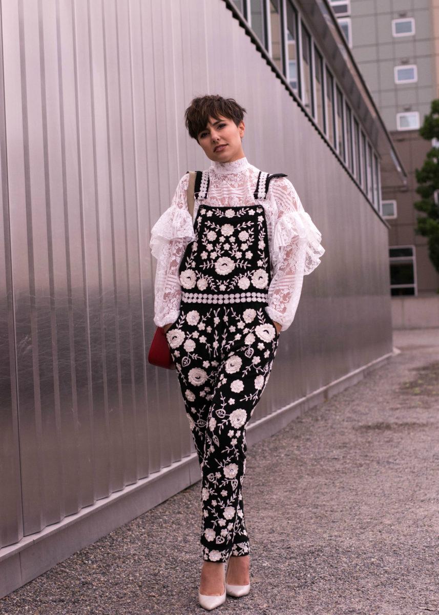 LFW SS17 Embroidered Overalls- bloggerNotBillionaire