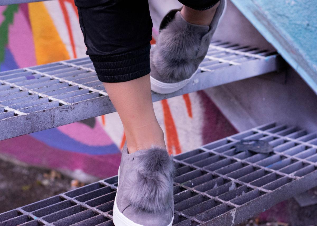 Sam Edelman Fur Pom Sneakers-BloggerNotBillionaire.com