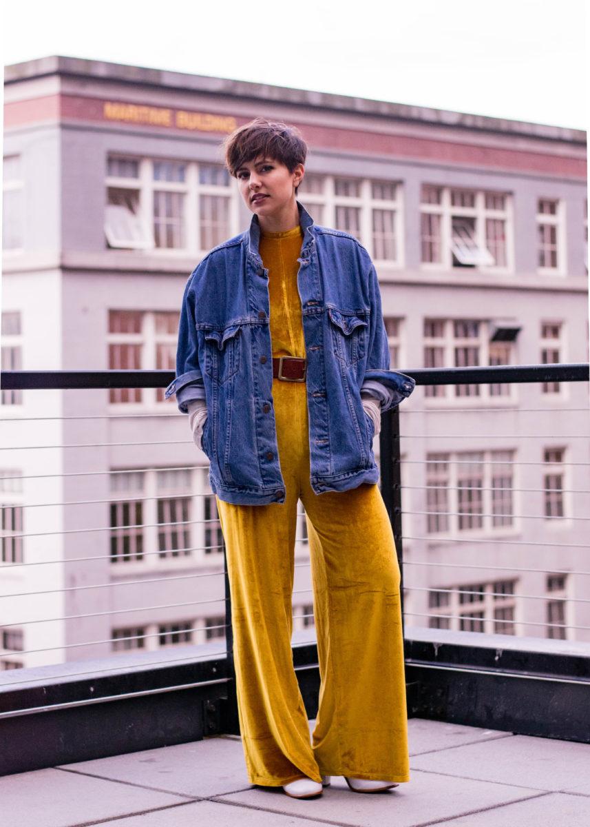 Zara Gold Velvet Jumpsuit- BloggerNotBillionaire