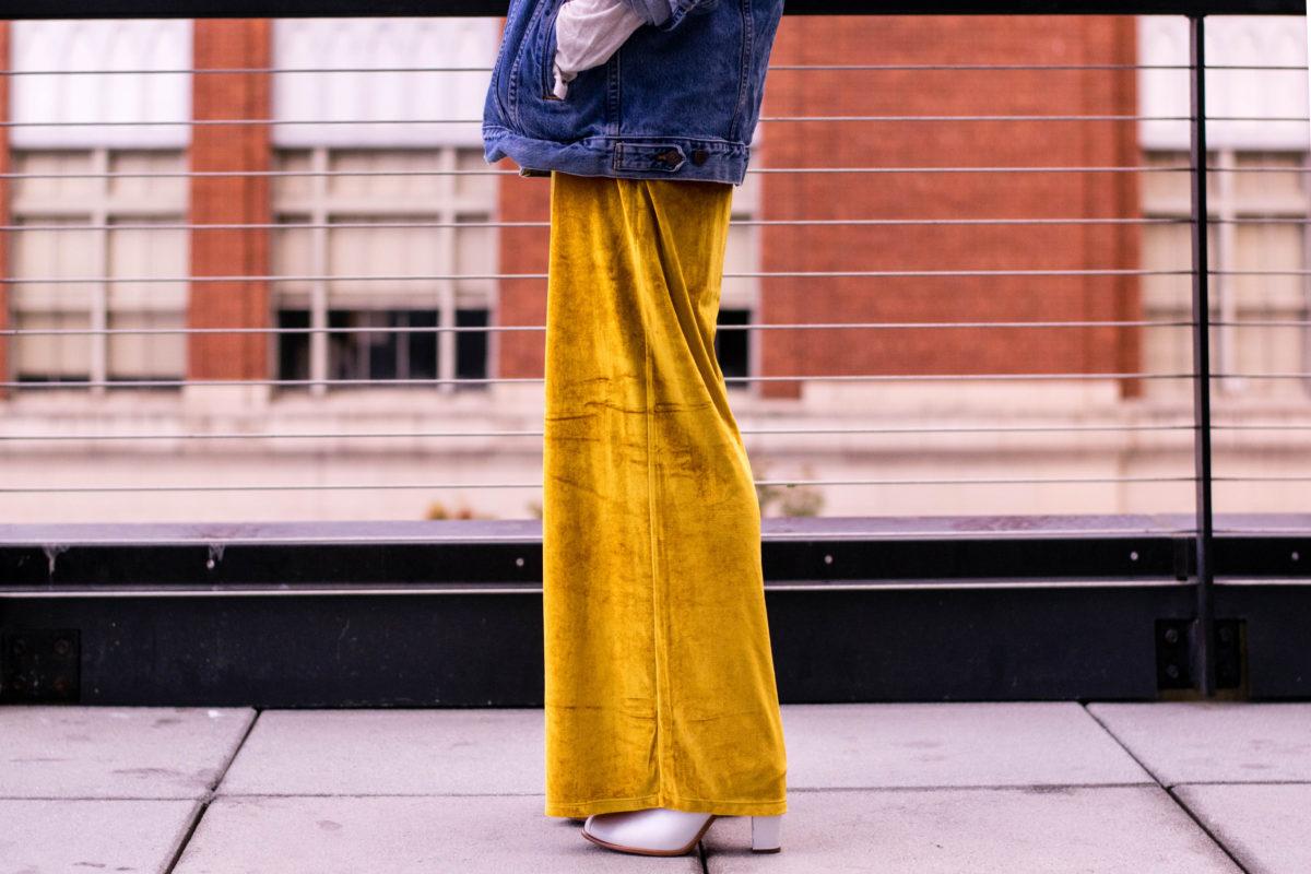 Gold Velvet Pants- BloggerNotBillionaire