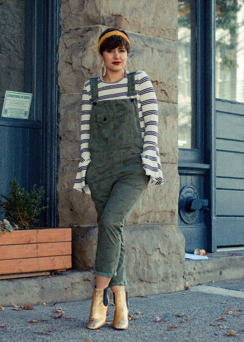 Bell Sleeves and Camo Overalls- Blogger Not Billionaire