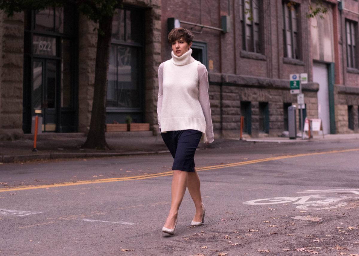 Long Shorts & Sleveless Sweaters- BloggerNotBillionaire