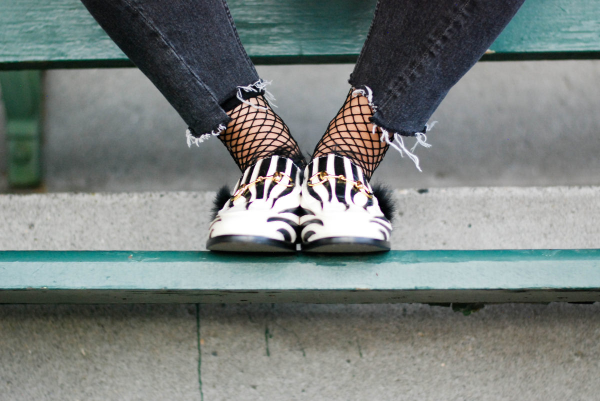Knockoff Gucci Zebra Fur Loafers- BloggerNotBillionaire.com