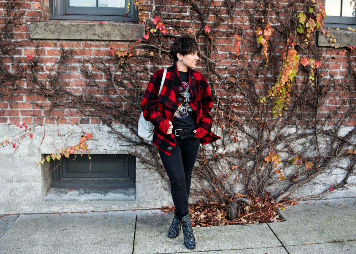 Plaid Isabel Marant Red Jacket- BloggerNotBillionaire