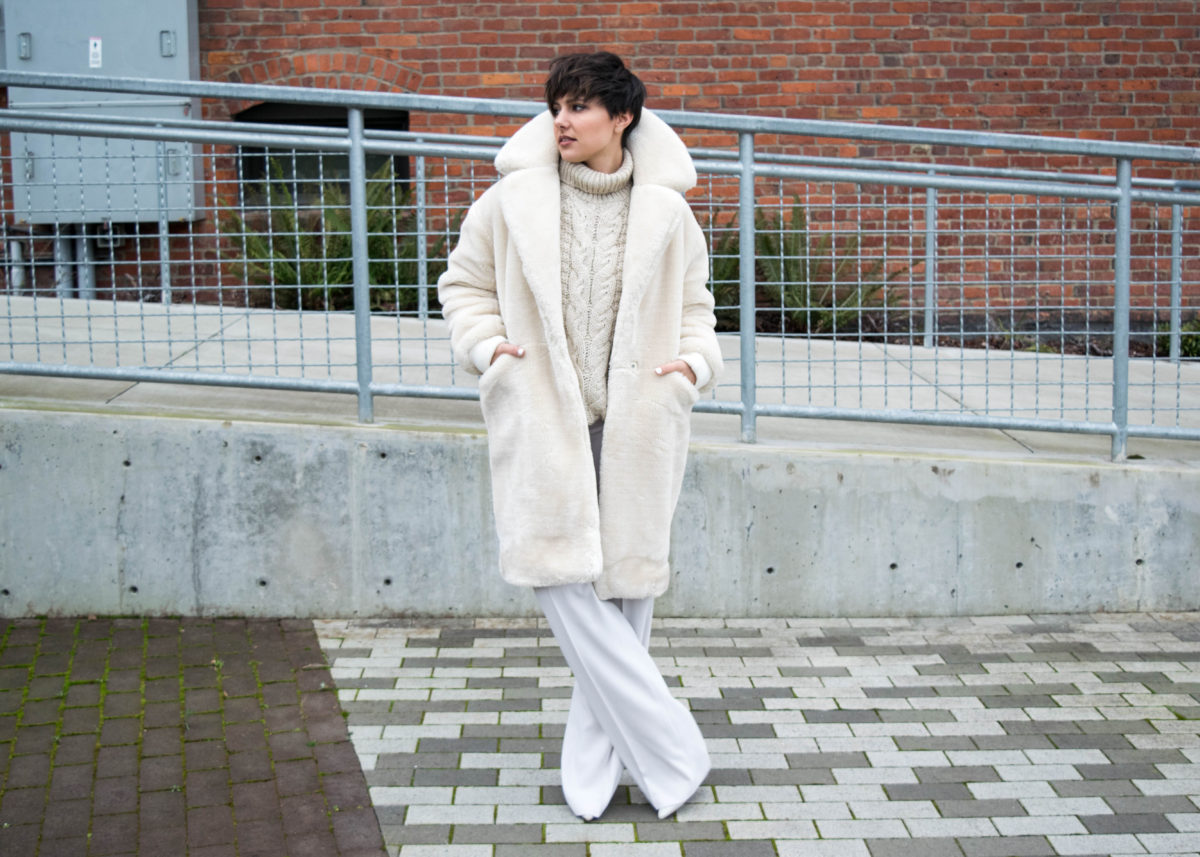 Winter White- Topshop Polar Bear Coat- BloggerNotBillionaire.com