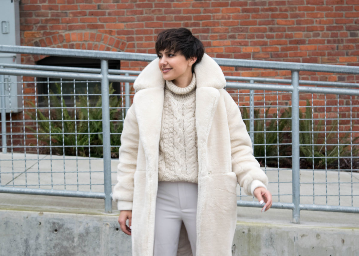 Topshop Polar Bear Faux Fur Coat- BloggerNotBillionaire