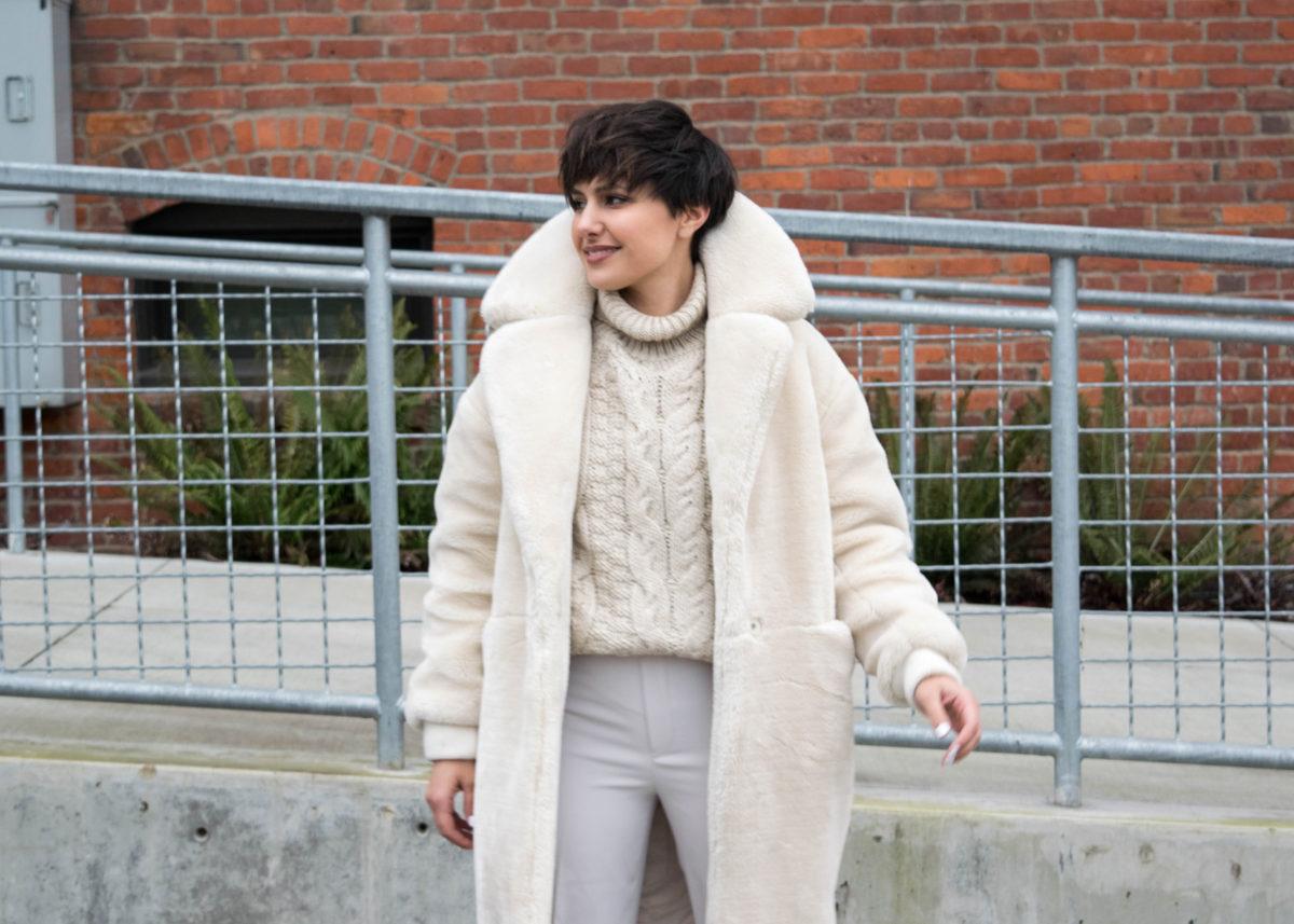 Topshop Polar Bear Faux Fur Coat- BloggerNotBillionaire
