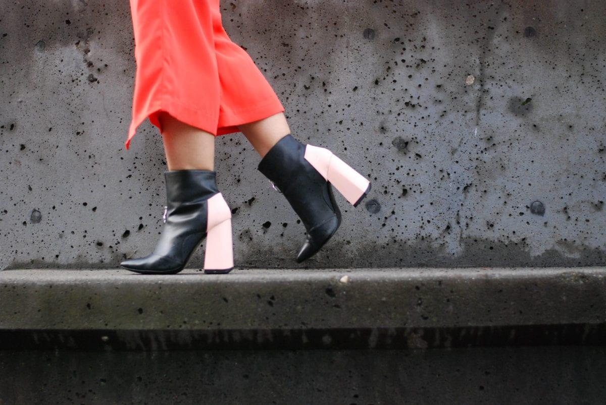 Zara Pink Heel Ankle Boot- BloggerNotBillionaire.com