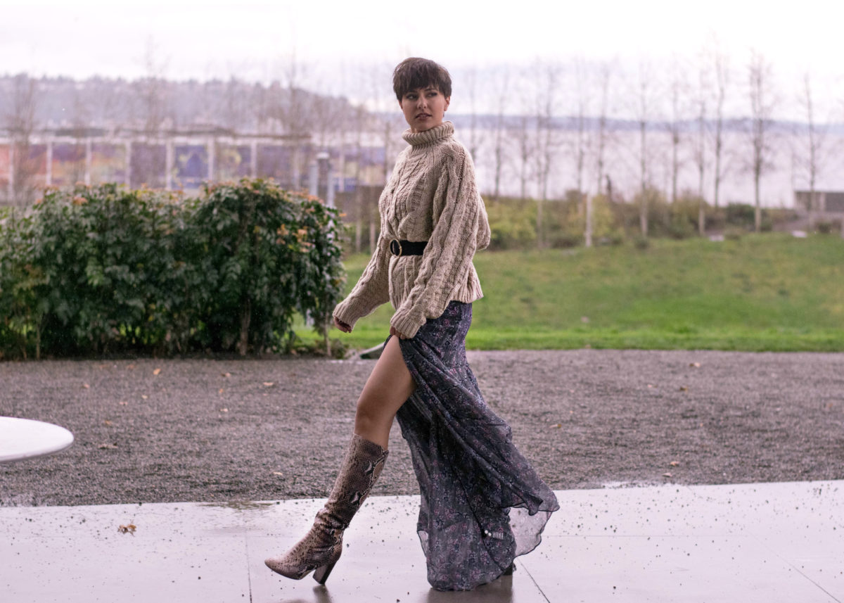 How to Style Your Maxi Skirt in the Winter- BloggerNotBillionaire