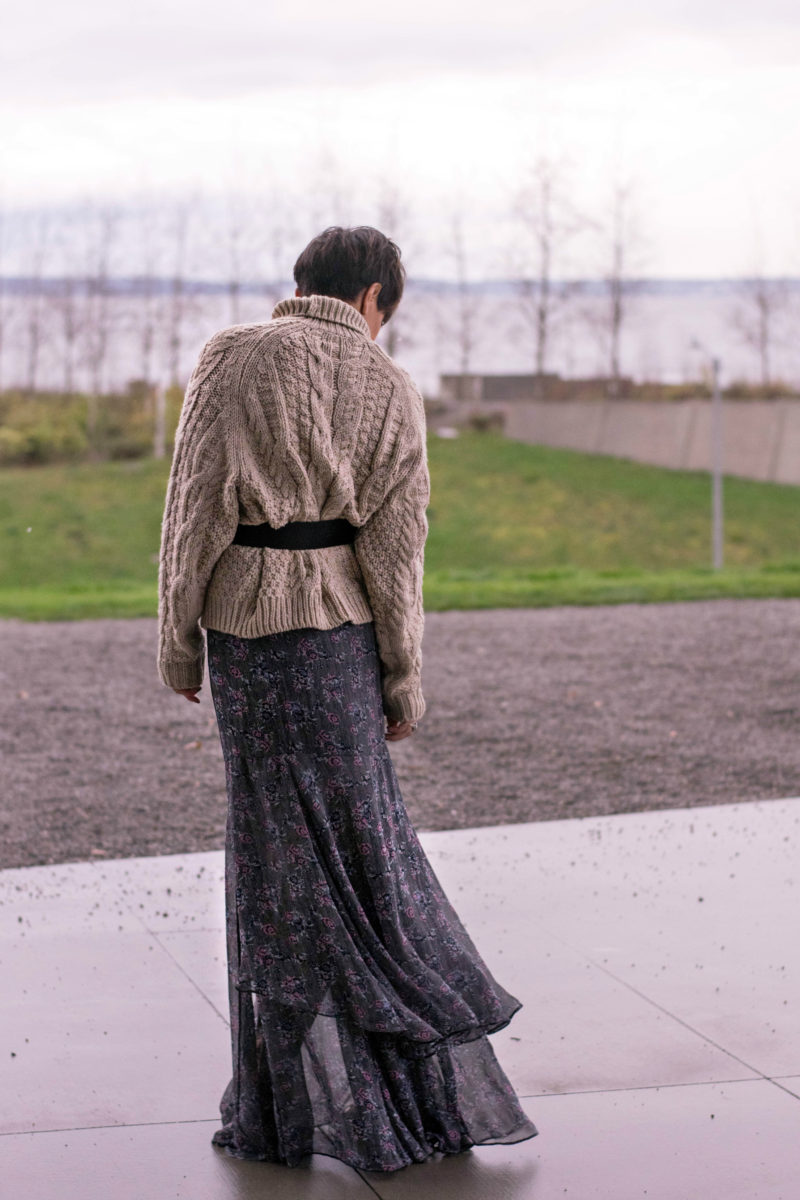 How to Style Your Maxi Skirt for Winter- BloggerNotBillionaire.com